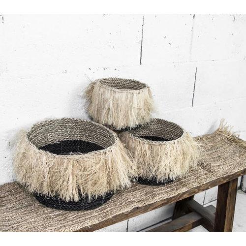 Bazar Bizar The Aloha Baskets - Black Natural - SET3