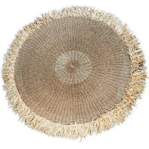 Bazar Bizar The Raffia Fringed Carpet Round - Natural - 200 cm