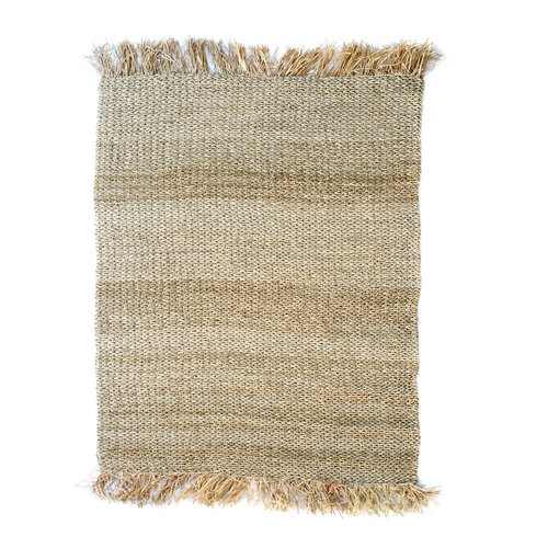 Bazar Bizar The Raffia Fringed Carpet - Natural - 180 x 240 cm