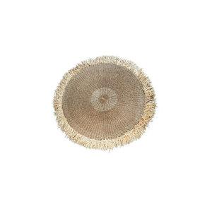 Bazar Bizar The Raffia Fringed Carpet Round - Natural - 100 cm