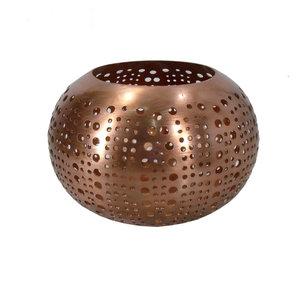 Bazar Bizar Double Circle Kynttilänjalka - Kupari - 16 cm