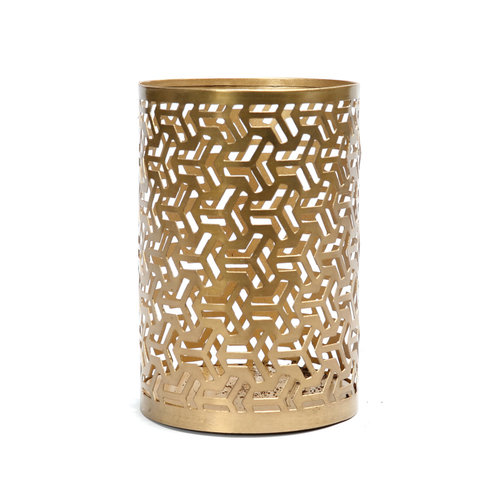 Bazar Bizar Hollow Siksak Kynttilänjalka - Kulta - 15 cm