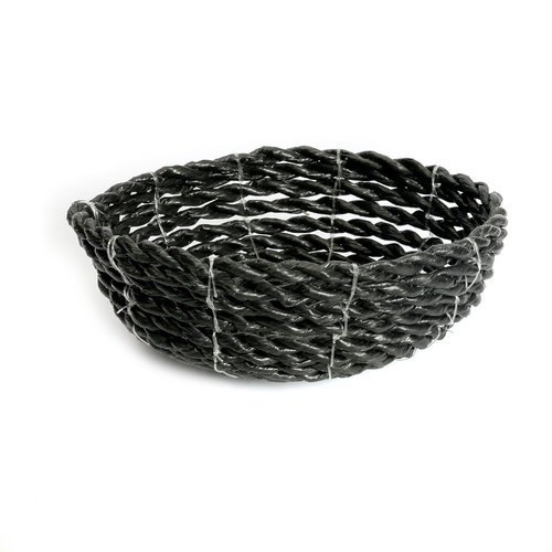 Bazar Bizar The Seagrass Bowl - Black - 15 cm