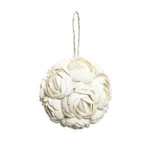 Bazar Bizar Rose Shell Koristepallo - Valkoinen - 9cm