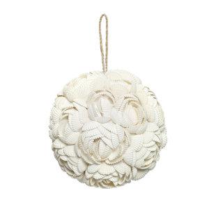 Bazar Bizar Rose Shell Koristepallo - Valkoinen - 12 cm