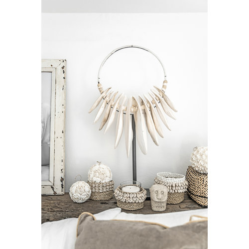 Bazar Bizar The Flower Shell Ball - White - L