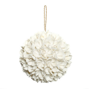 Bazar Bizar Flower Shell Koristepallo - Valkoinen - 12 cm