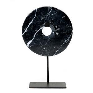 Bazar Bizar The Marble Disc on Stand - Black - 40 cm