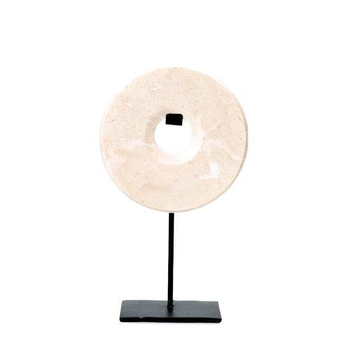 Bazar Bizar Marble Disc Hyllykoriste - Valkoinen - 35 cm