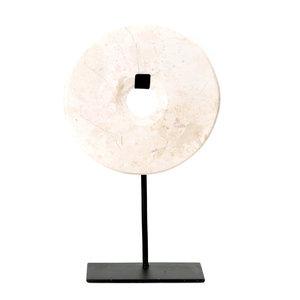 Bazar Bizar Marble Disc Hyllykoriste - Valkoinen - 40 cm