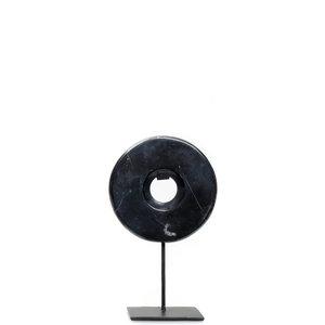 Bazar Bizar Marble Disc Hyllykoriste - Musta - 25 cm