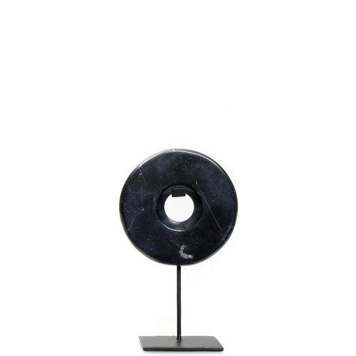 Bazar Bizar The Marble Disc on Stand - Black - 25 cm