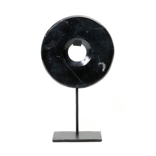 Bazar Bizar The Marble Disc on Stand - Black - 35 cm