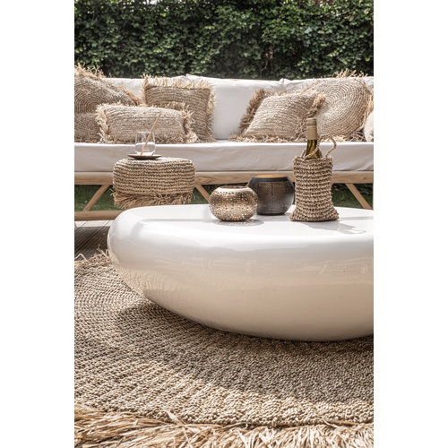 Bazar Bizar The Raffia Cushion cover Round - Natural - 60 x 60 cm