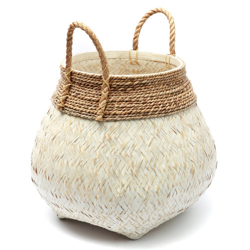 Bazar Bizar The Belly Basket - Natural White - 50 x 40 cm