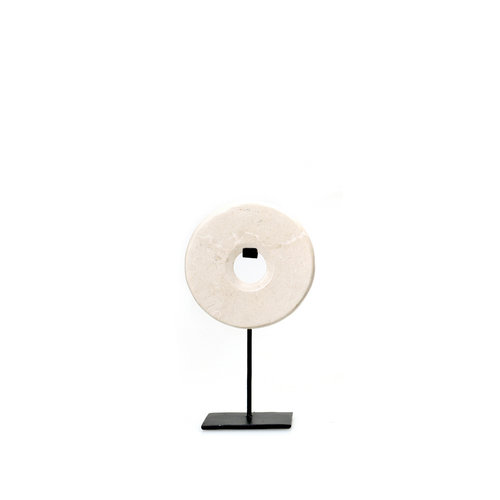 Bazar Bizar The Marble Disc on Stand - White - 25 cm