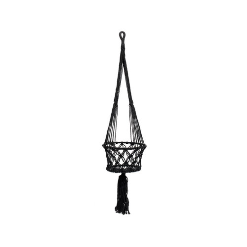 Bazar Bizar The Macrame Plant Holder - Black - 25 cm