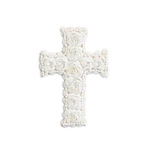 Bazar Bizar Simpukka Risti - Valkoinen - 20 × 30 cm