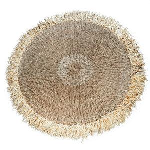 Bazar Bizar The Raffia Fringed Carpet Round - Natural - 150 cm