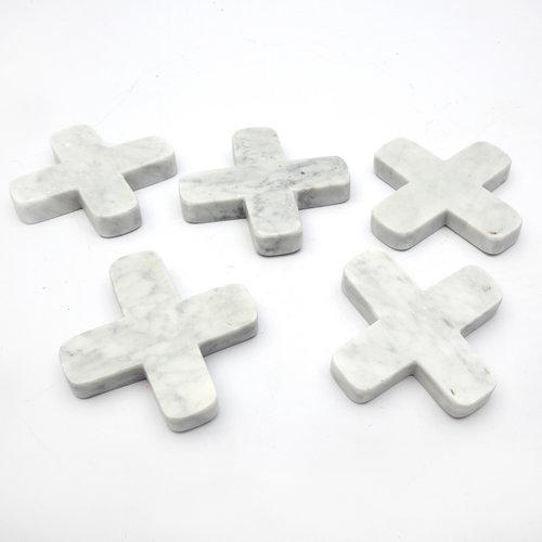 Bazar Bizar Marble Pannunalunen - Valkoinen - 12 cm