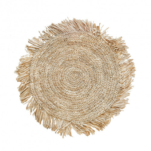 Bazar Bizar The Fringe Raffia Placemat Round - Natural - 45 cm