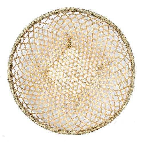 Bazar Bizar The Bamboo Wall Basket - Natural - 60 cm