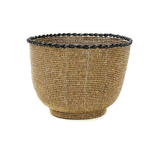 Bazar Bizar Beaded Kulho Korkea - Kulta - 13 cm
