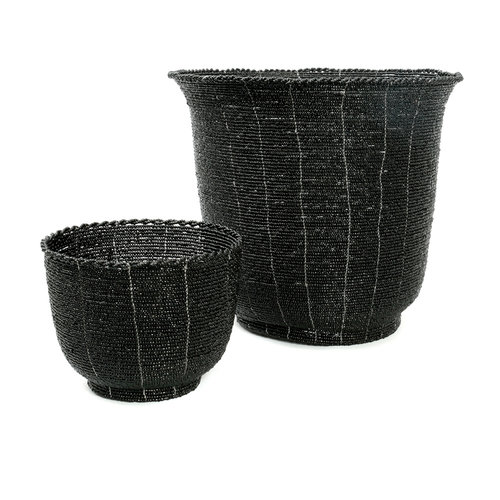 Bazar Bizar Beaded Kulho Korkea - Musta - 13 cm