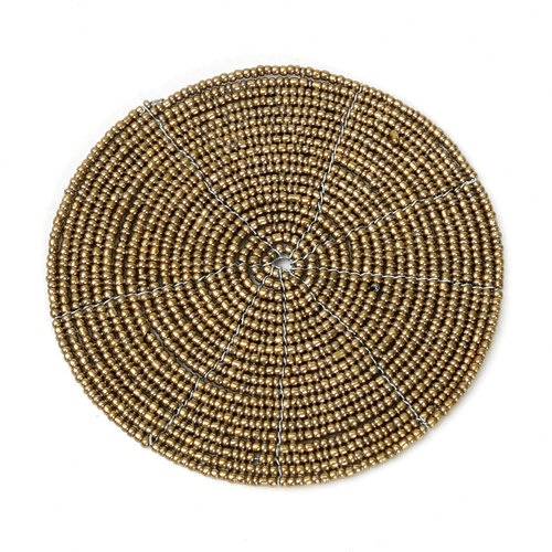 Bazar Bizar The Beaded Coaster - Gold - 10 cm