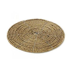 Bazar Bizar The Beaded Coaster - Gold - 10 cm