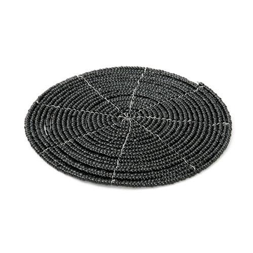 Bazar Bizar The Beaded Coaster - Black - 10 cm