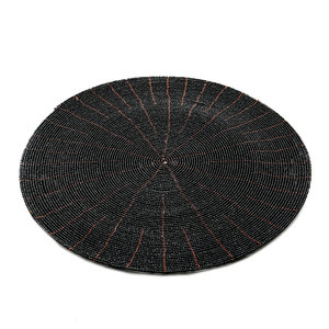 Bazar Bizar The Beaded Placemat - Black - 30 cm