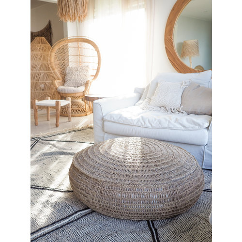 Bazar Bizar The Seagrass Pouffe - Natural - 80 x 35 cm