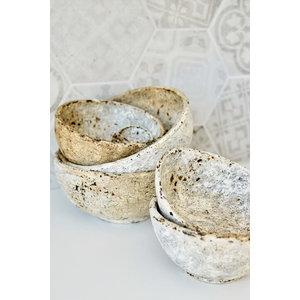 Bazar Bizar Burned Curved Kulho - Antiikki - 3 kpl