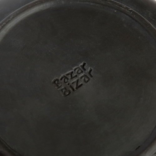 Bazar Bizar Burned Syvä Lautanen - Musta - 24 cm