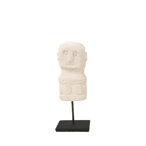 Bazar Bizar The Small Sumba Stone on Stand - White - 17 cm