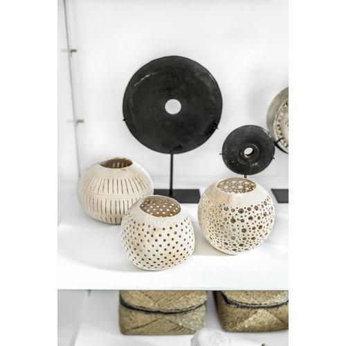 Bazar Bizar Coconut Pilkku Kynttilälyhty - Natural - 13 cm