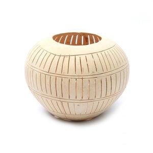 Bazar Bizar Coconut Raita I Kynttilälyhty - Natural - 13 cm