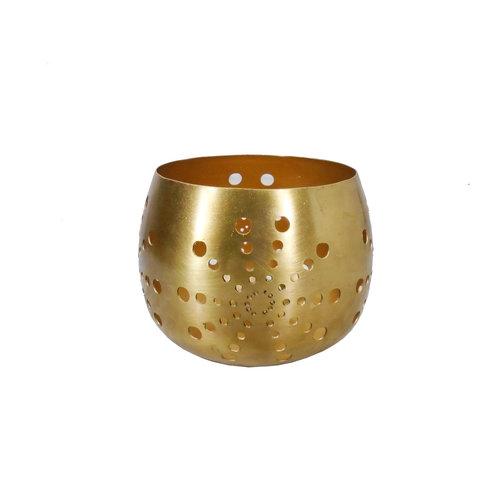 Bazar Bizar Sun Pallo Kynttilänjalka - Kulta - 12 cm