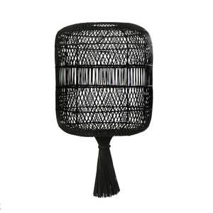 Bazar Bizar Rattan Dumpling Kattovalaisin - Lattiavalaisin - Musta - 70 cm