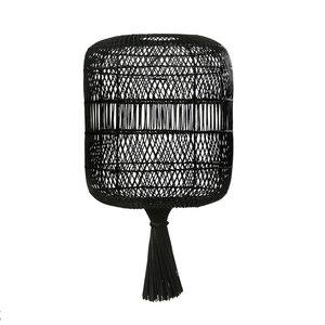 Bazar Bizar The Rattan Dumpling Pendant - Floor Lamp - Black - 70 cm