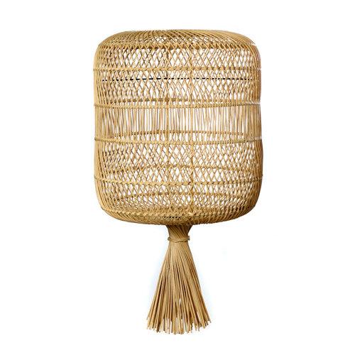 Bazar Bizar The Rattan Dumpling Floor Lamp - Pendant - Natural - 70 cm