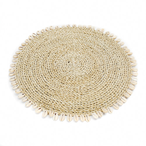 Bazar Bizar Seagrass Shell Tabletti - Natural - 38 cm