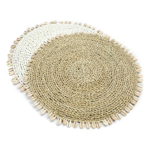 Bazar Bizar The Seagrass Shell Placemat - White - 38 cm