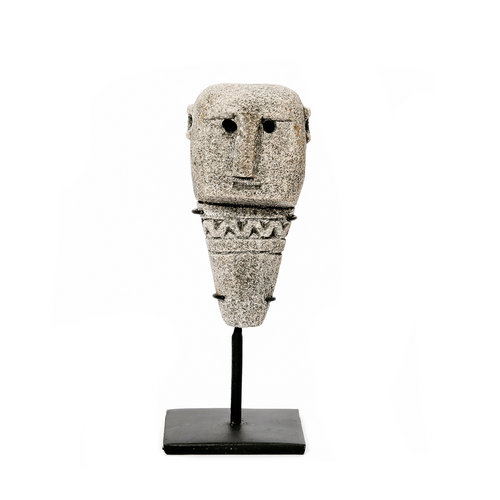 Bazar Bizar The Sumba Stone Statue on Stand - Grey - 15 cm