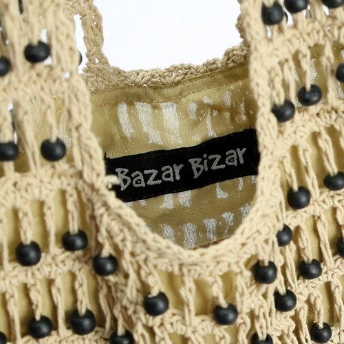 Bazar Bizar The Day in Day out Tote - Cream Black