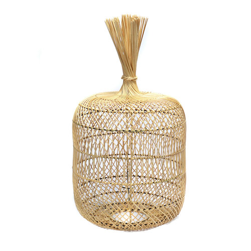 Bazar Bizar The Rattan Dumpling Floor Lamp - Pendant - Natural