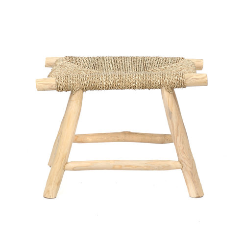 Bazar Bizar The Porto Seagrass Stool - Natural - M