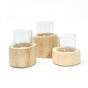 Bazar Bizar Trio Kynttilänjalka - Natural - 13 cm - 3 kpl