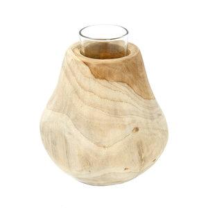 Bazar Bizar Pisara Kynttilänjalka - Natural - 16 cm